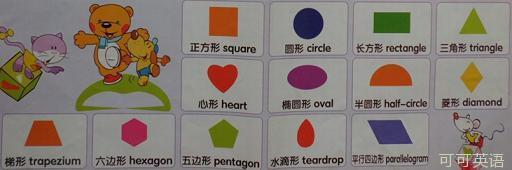 幼儿启蒙英语500词 第6期:几何图形各种形状