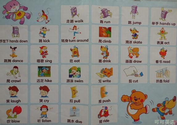 幼儿启蒙英语500词 第22期:关于动作