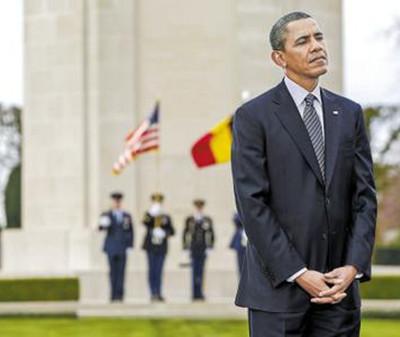 AP News一分钟新闻 奥巴马在比利美军公墓时向一战美军士兵致敬