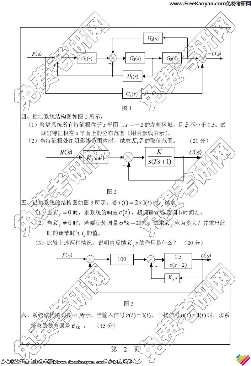 华南理工大学2006年自动控制原理专业课考研真题试卷