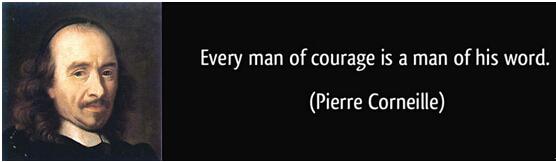 有勇气的人,不怕承诺