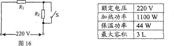 画如电饭锅的电路原理图如图l6所示