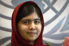 The 17-year-old girls' rights activist Malala Yousafzai has been awarded the Nobel Peace Prize.jpeg