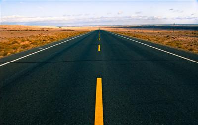 公路无尽头风景图片