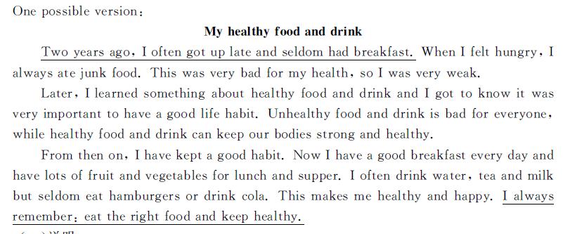 健康的饮食英语作文