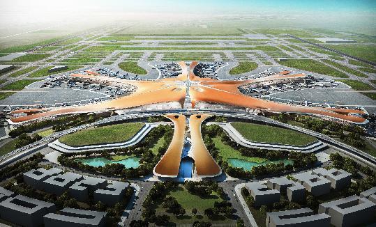 扎哈公布在北京世界最大机场的设计计划