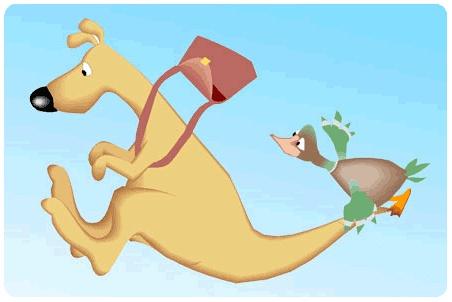 澳大利亚袋鼠卡通