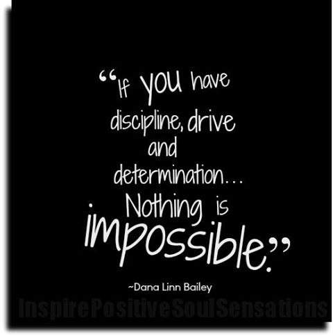 如果你有自制力、动力和决心,没有什么是不可能的!