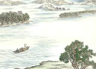 诗歌翻译:王维-《汉江临眺》英文译文