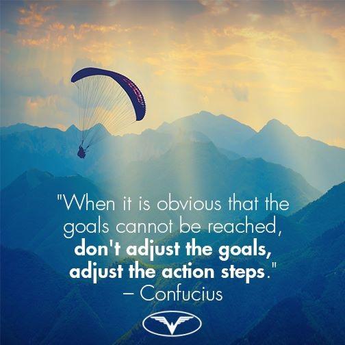 当你的目标是显而易见没有办法被达到的话,不要调整目标,调整你的行动与步骤