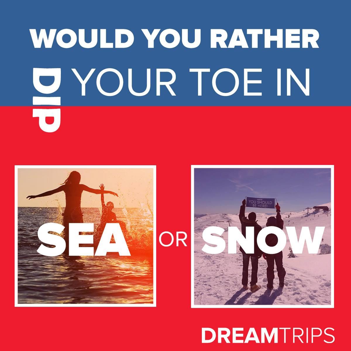 玩水还是玩雪?