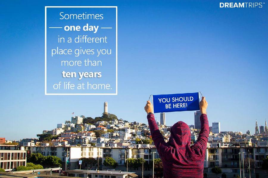有时候一个在异地的一天,能抵过你在家十年的生活