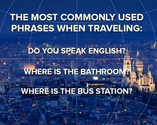 旅行最常用的三句英语