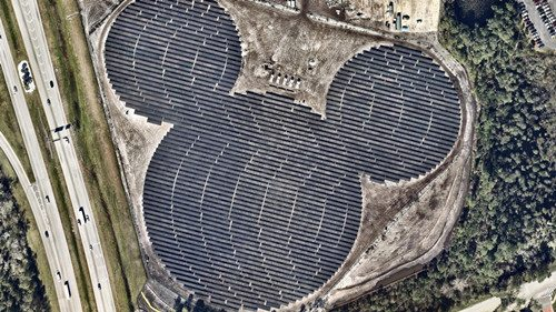 美佛州惊现最大米老鼠 竟是迪斯尼专用太阳能电厂