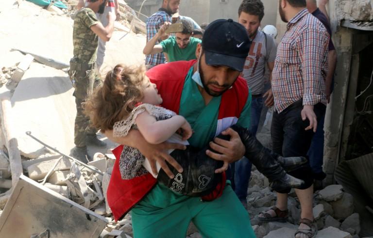 叙利亚政府军空袭阿勒颇一座医院