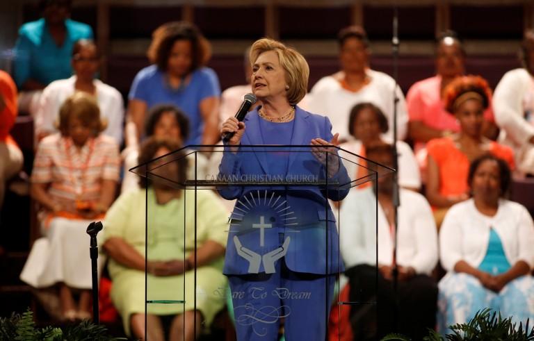 希拉里在肯塔基州发表演讲寻求胜选