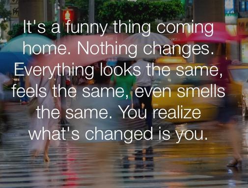 真正改变的是自己