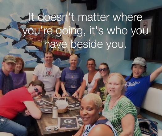 重要的不是你去哪,而是陪你一起的是谁。