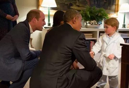 奥巴马自嘲会见乔治王子