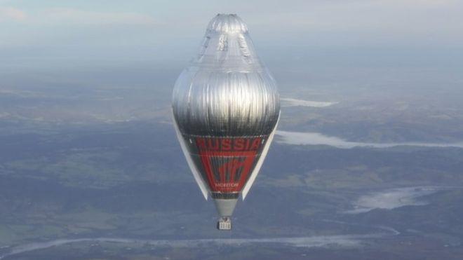 俄罗斯热气球飞行家完成环球之旅