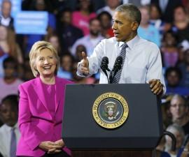 奥巴马总统表态支持希拉里