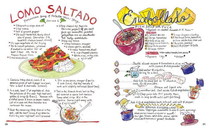 手绘拉丁美食地图 当吃货同时是个牛逼画手