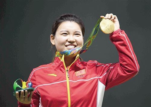 射击小将张梦雪为中国代表团夺得里约奥运会首金