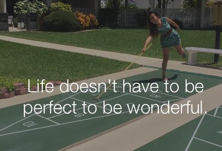 生活不必完美也可以精彩