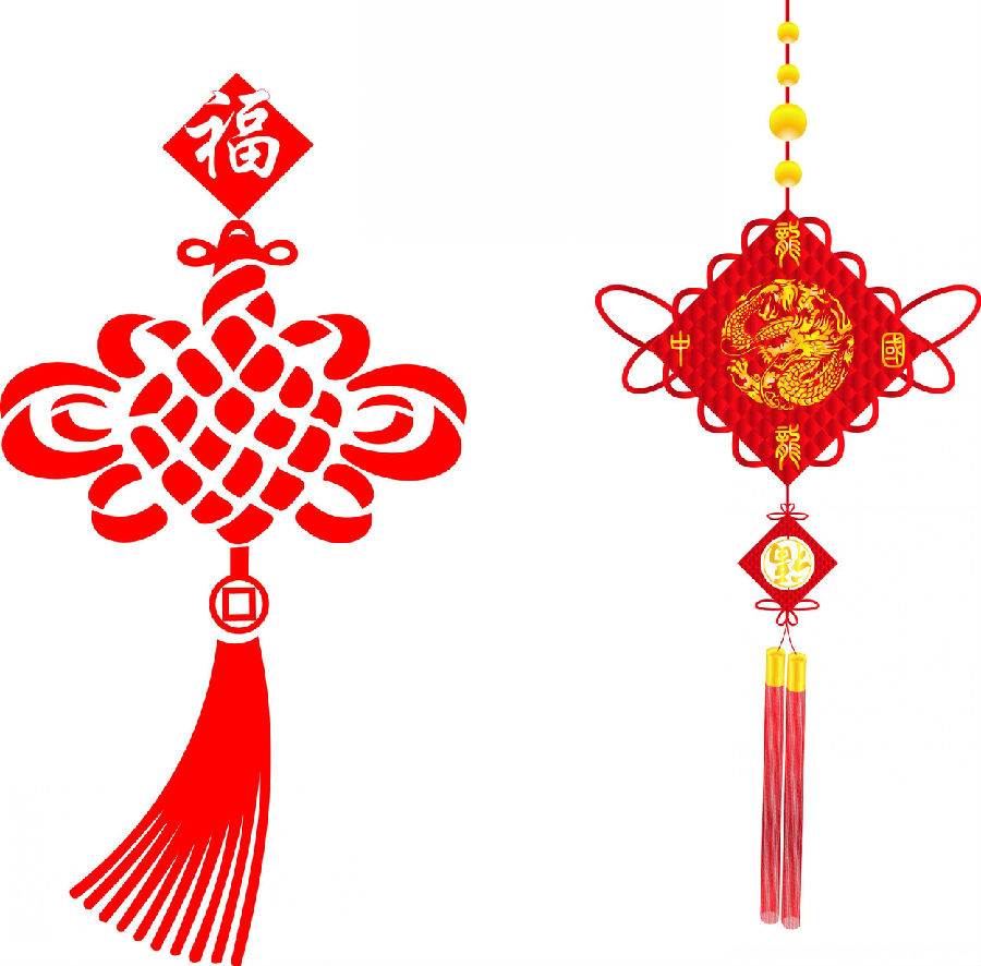 中国结服装手绘