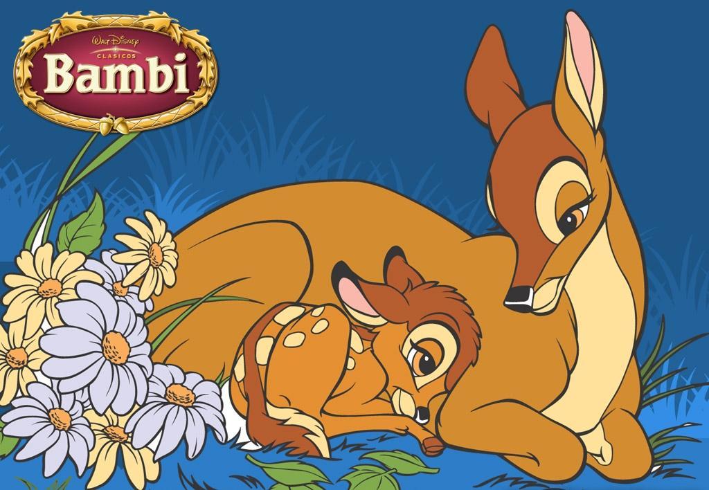 小鹿斑比和妈妈.