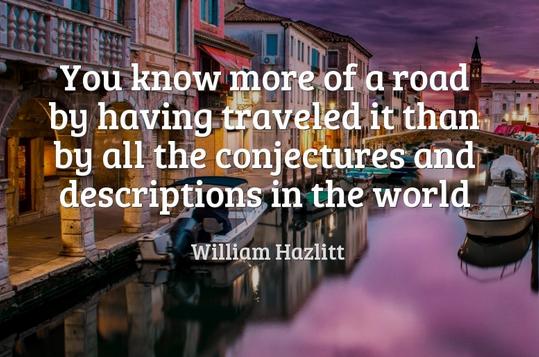 通过旅行 懂得更多