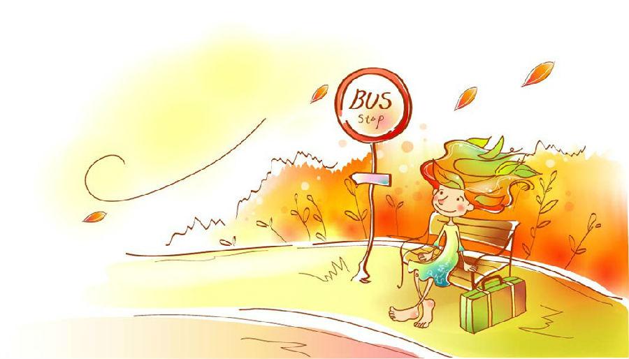 等公交车卡通