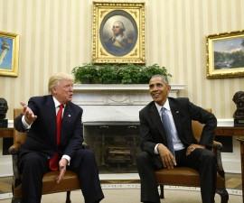 首次会见 奥巴马和特朗普为权力交接做好准备