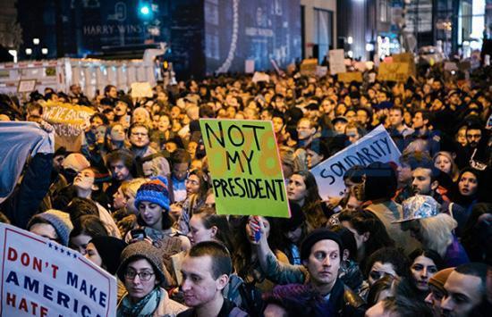 美国抗议示威特朗普当选总统.jpg