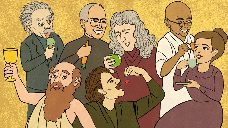 爱因斯坦、乔布斯、居里夫人等伟人