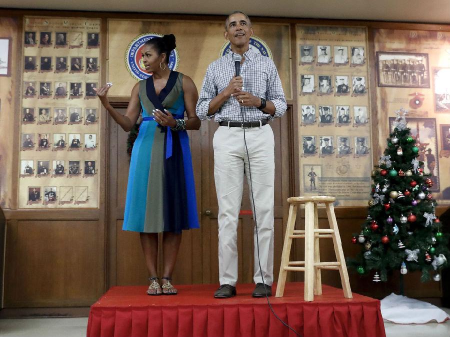 奥巴马与夫人