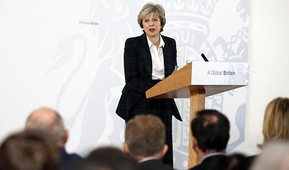英国首相确立脱离欧洲单一市场.jpg