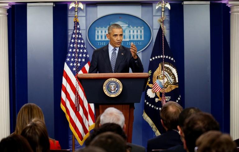 奥巴马举行任期内最后一次白宫记者会