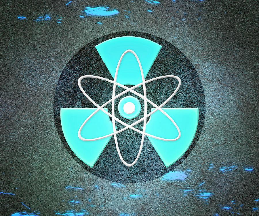 蓝色的原子辐射背景