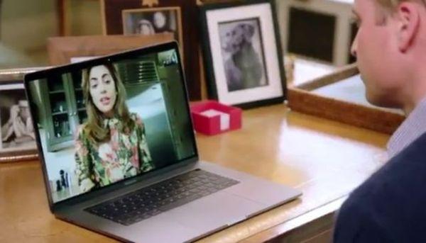 威廉王子与Lady Gaga视频谈话 一起探讨精神健康