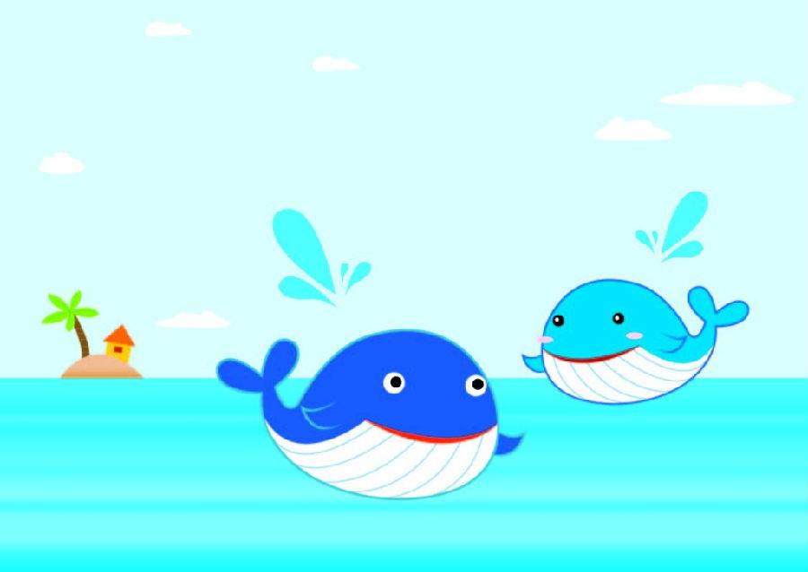 鲸鱼是生活在海里的巨大哺乳动物.