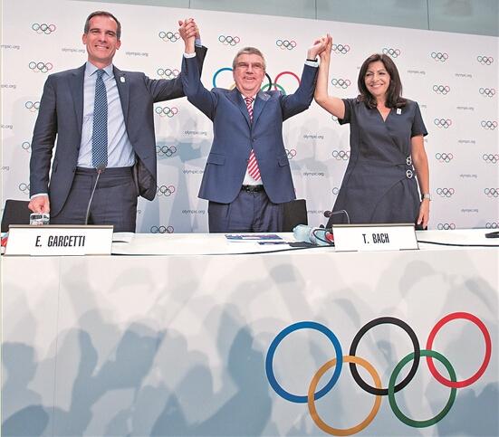洛杉矶巴黎双双获得奥运会承办权.jpg