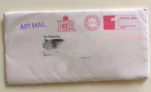 义乌小学生给英国女王写信 两月后收到回信