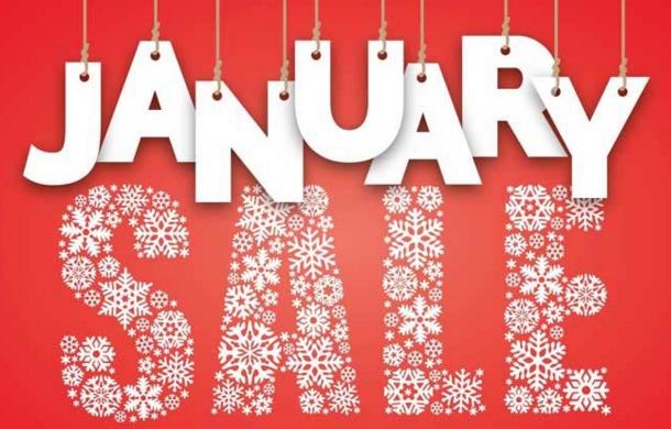 January Sales 一月大减价