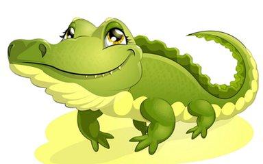 手工制作动物牙齿鳄鱼