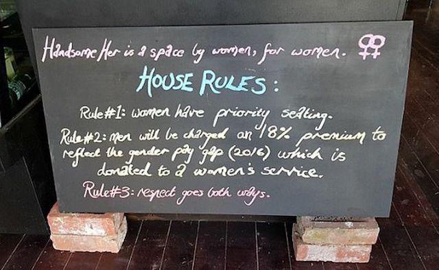 呼吁性别平等 澳洲咖啡馆向男顾客加收额外费!