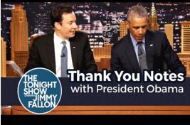 奥巴马总统的感谢信