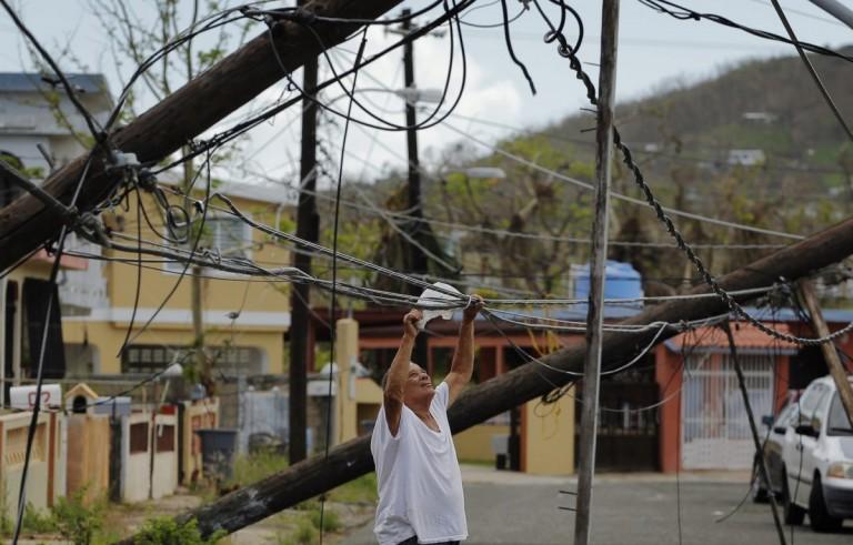 玛丽亚飓风给波多黎各的电力带来问题