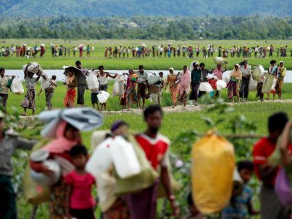 缅甸佛教徒对遣返罗兴亚人表示抗议