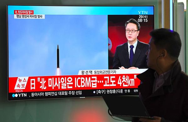 """朝鲜试射导弹 美韩强硬回应""""挑衅"""".jpg"""